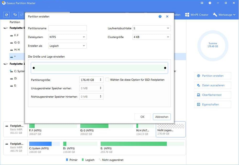 Wie Kann Man Datenpartition Unter Windows 10 Erstellen Easeus