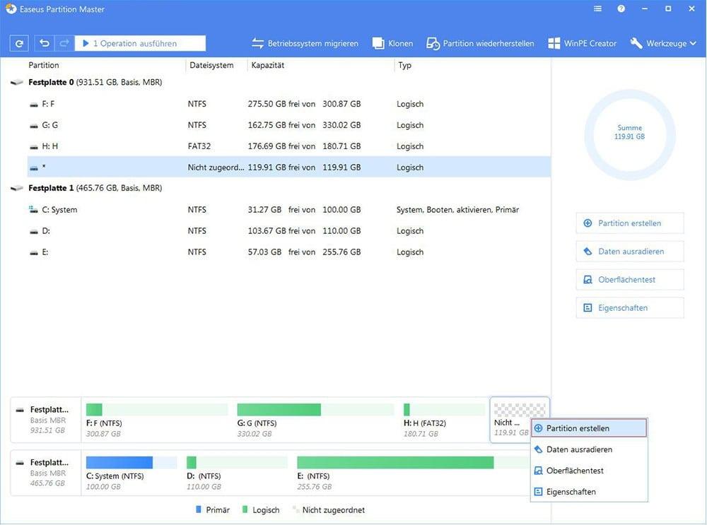 Wie Kann Man Windows 10 Partitionen Kostenlos Erstellen Easeus