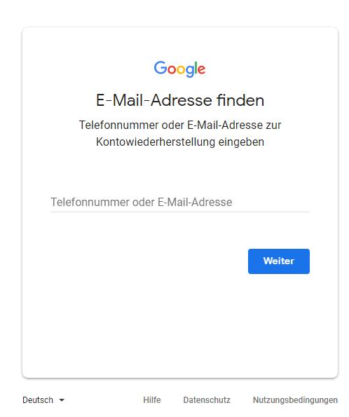 google com accounts hl de passwort vergessen
