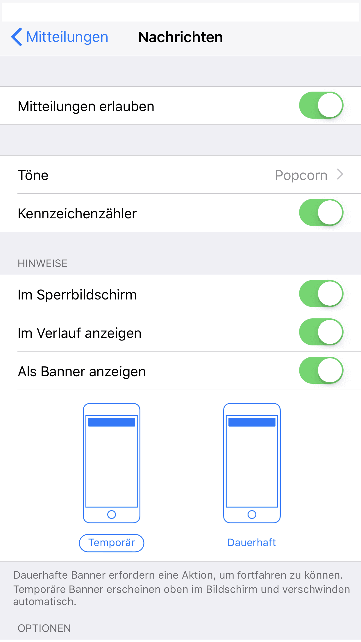 iphone x email benachrichtigung einschalten