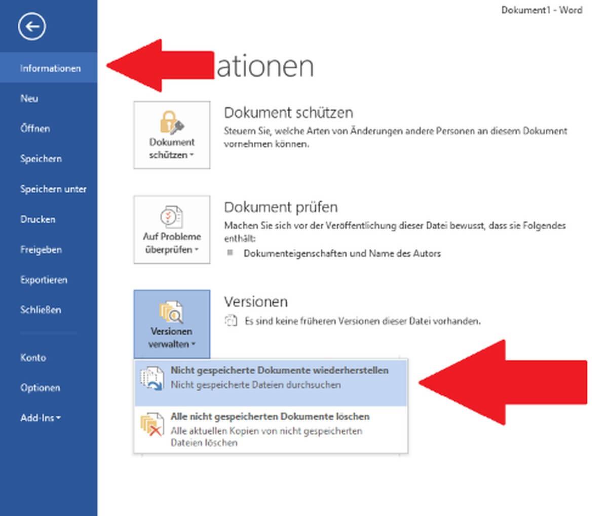 Nicht Gespeicherte Word Datei Wiederherstellen 2007