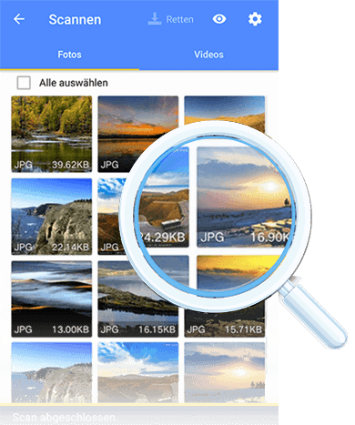 Beste Android-App zur Wiederherstellung verlorener oder